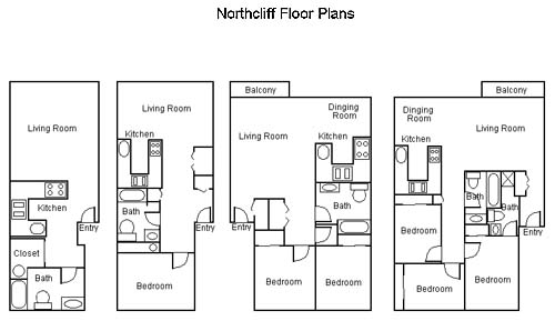 Northcliff Floorplans